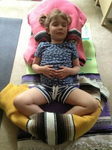 My daughter practicing intentional rest