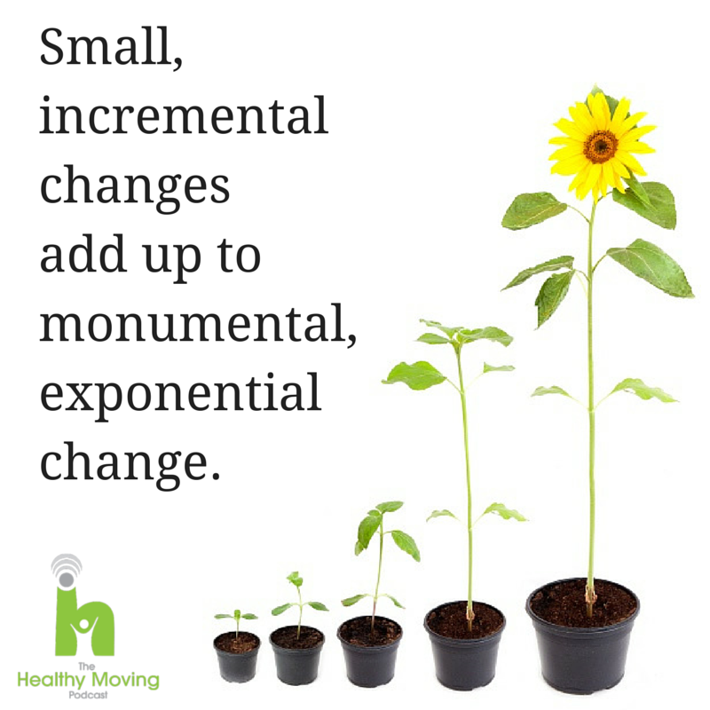 Small incremental changes add up to monumental, exponential change