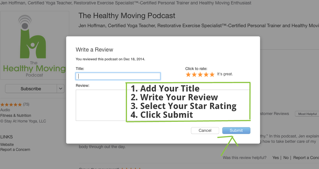 How to Subscribe, Rate, and Review the Podcast