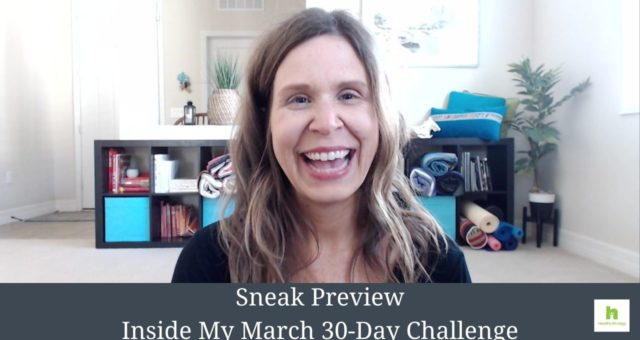Sneak Preview – Inside My March 30-Day Challenge